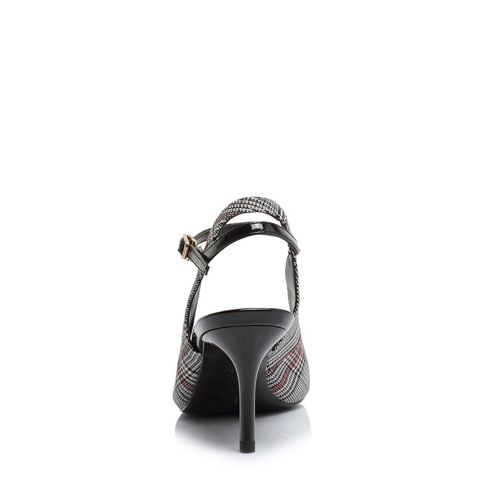AR201AH8 夏专柜同款格纹牛皮后空细高跟女凉鞋 2018 天美意