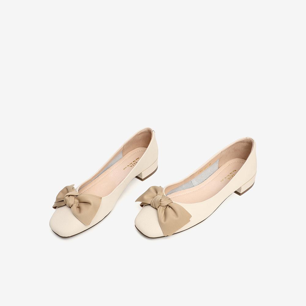 YZK02AQ1 春专柜同款甜美蝴蝶结女低跟浅口单鞋新款 2021 他她 Tata