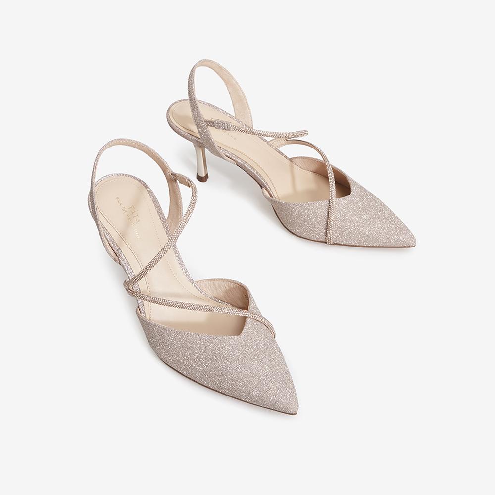 7DDB5AH1 夏新款 2021 他她一字带凉鞋女仙女风后空高跟鞋细跟 Tata