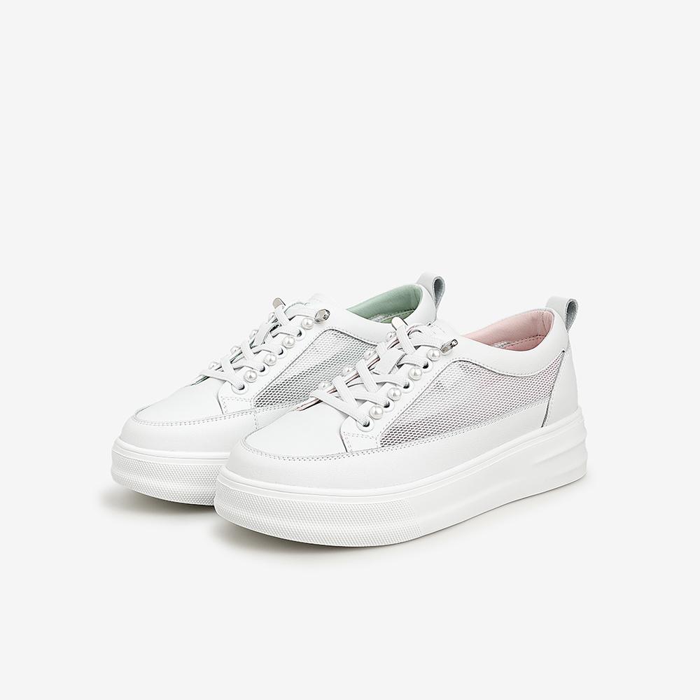 Y6H01BM1 年夏季新款 2021 他她透气小白鞋女薄款厚底板鞋百搭 Tata