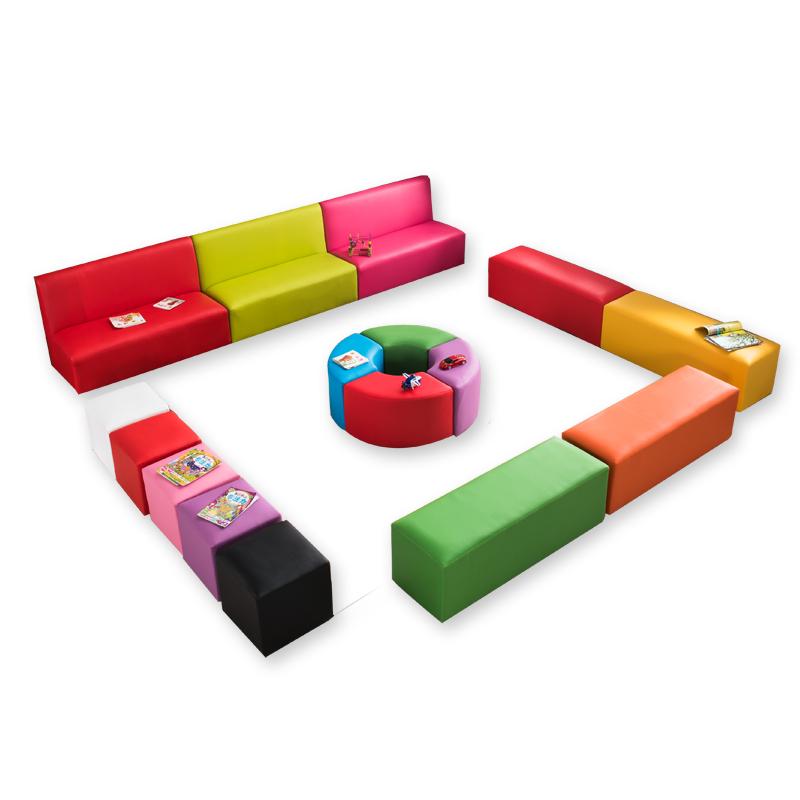 簡易沙發凳走廊定制創意學校長椅三人椅入門沙發凳靠背懶人可愛