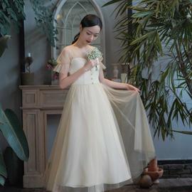 茉野婚纱轻礼服「香槟恋」敬酒服伴娘姐妹裙年会显瘦连衣裙伴手礼