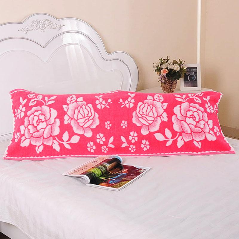 吸汗情侶四季雙人枕巾1.5純棉加大厚1.2雙人長枕頭巾正品1.3米