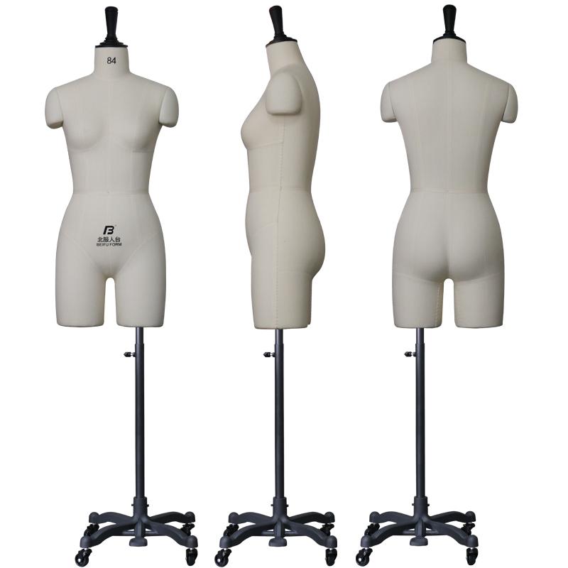 北服立体裁剪人台女半身可插针板房设计打版公仔模特道具假人国标