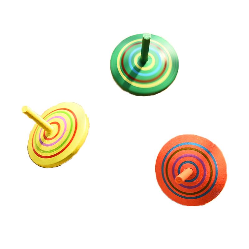 儿童木质手转小陀螺玩具男孩创意 减压梦幻成人解压怀旧新奇坨螺