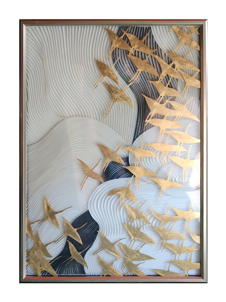 瑞杰油画轻奢现代沙发背景墙客厅玄关装饰画走廊挂画卧室餐厅壁画