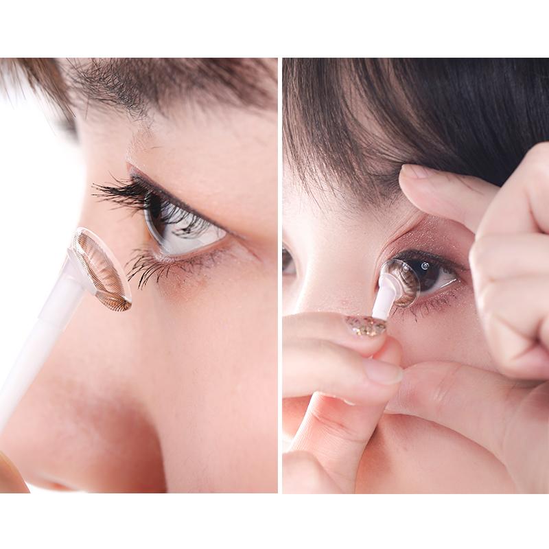 萝萝拉隐形眼镜盒夹子镊子吸棒摘取器美瞳眼境辅助佩戴工具 LOLOLA