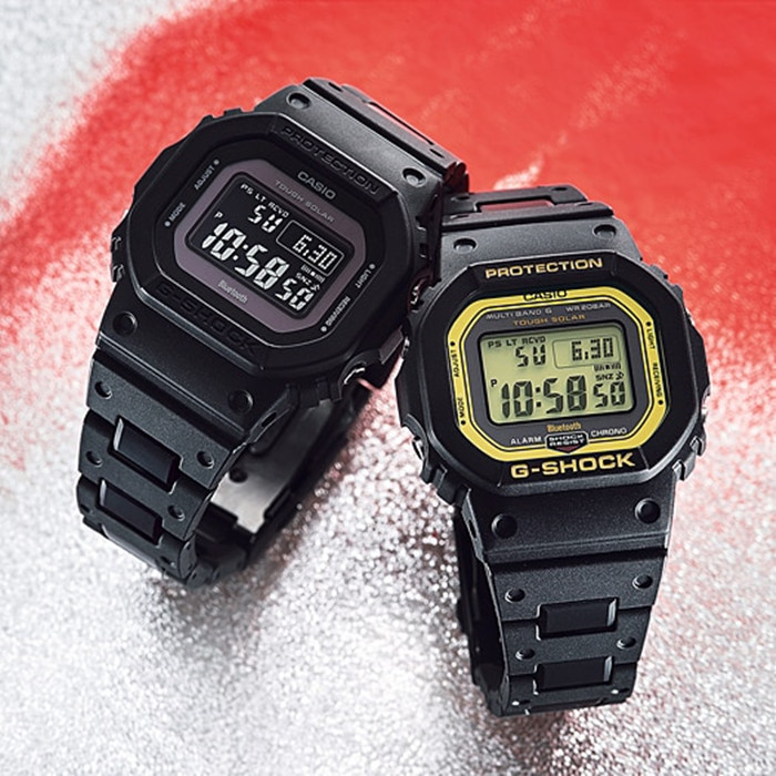 1 1 B5600BC 2 B5600 GW 光能电波蓝牙方块手表 SHOCK G 卡西欧 CASIO