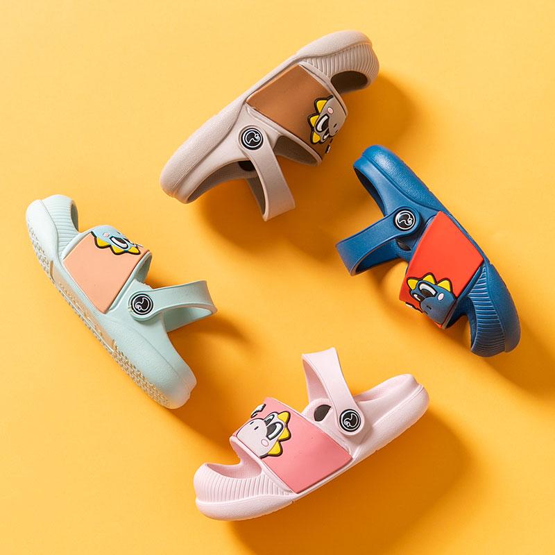 洞洞鞋儿童拖鞋夏室内防滑软底可爱包头男童女童宝宝凉拖鞋沙滩鞋
