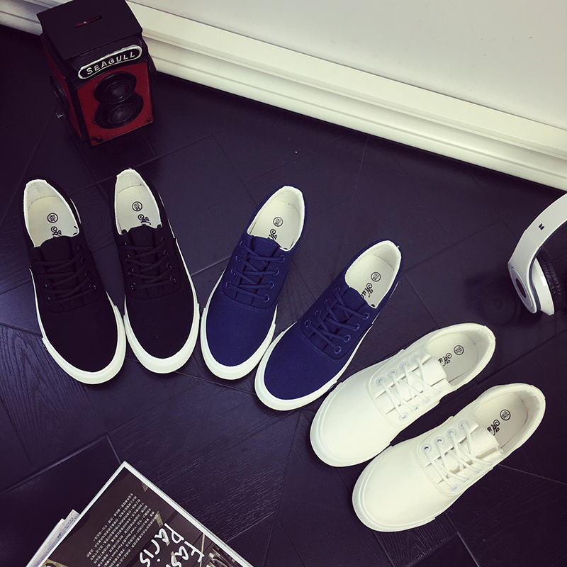 2018新款纯白色帆布鞋女小白鞋学清纯韩国布鞋单鞋休闲鞋轻便球鞋