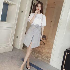 学院风2018夏季新款潮韩版学生套装裙子小清新文艺两件套连衣裙女