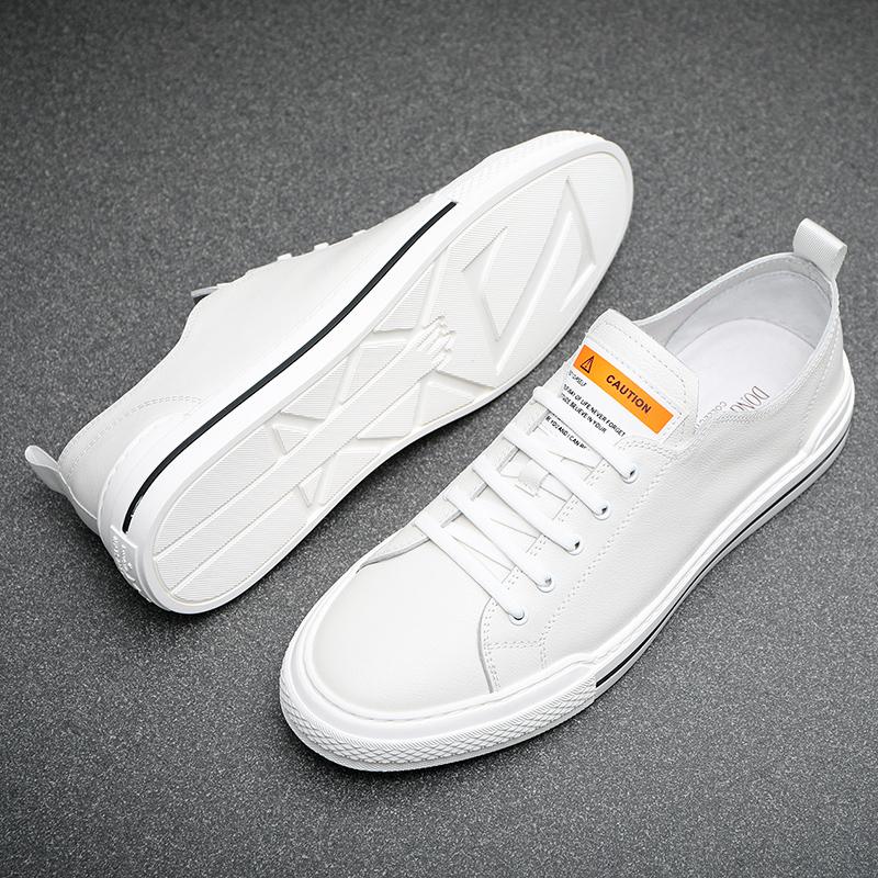 新款小白鞋男真皮潮流韩版百搭休闲鞋透气鞋子男板鞋 2020 男鞋秋季
