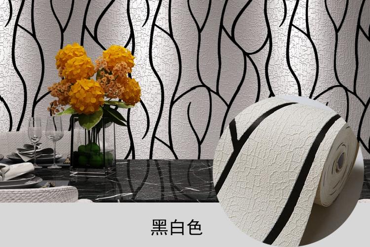 现代简约电视背景墙壁纸客厅大气5D立体竖条纹鹿皮绒曲线影视墙纸