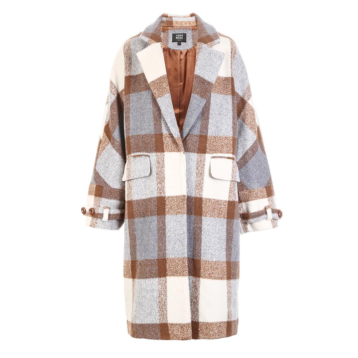 VeroModa  女士 格纹中长款 毛呢大衣157.5元(需凑单)