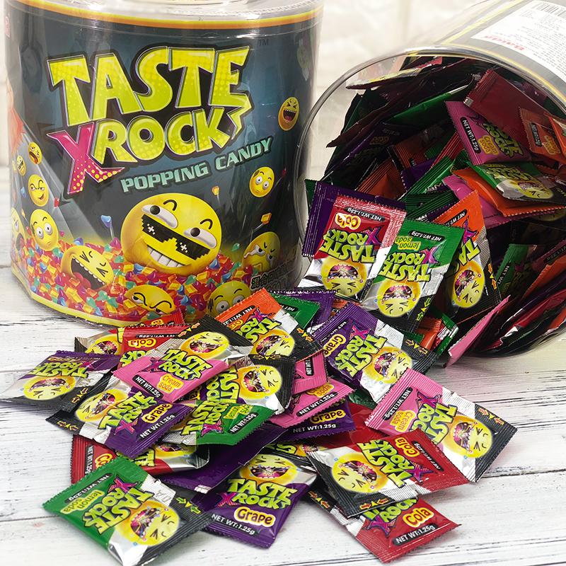 百达桶装跳跳糖果创意结婚喜糖网红聚会过年货零食散装发批小包装