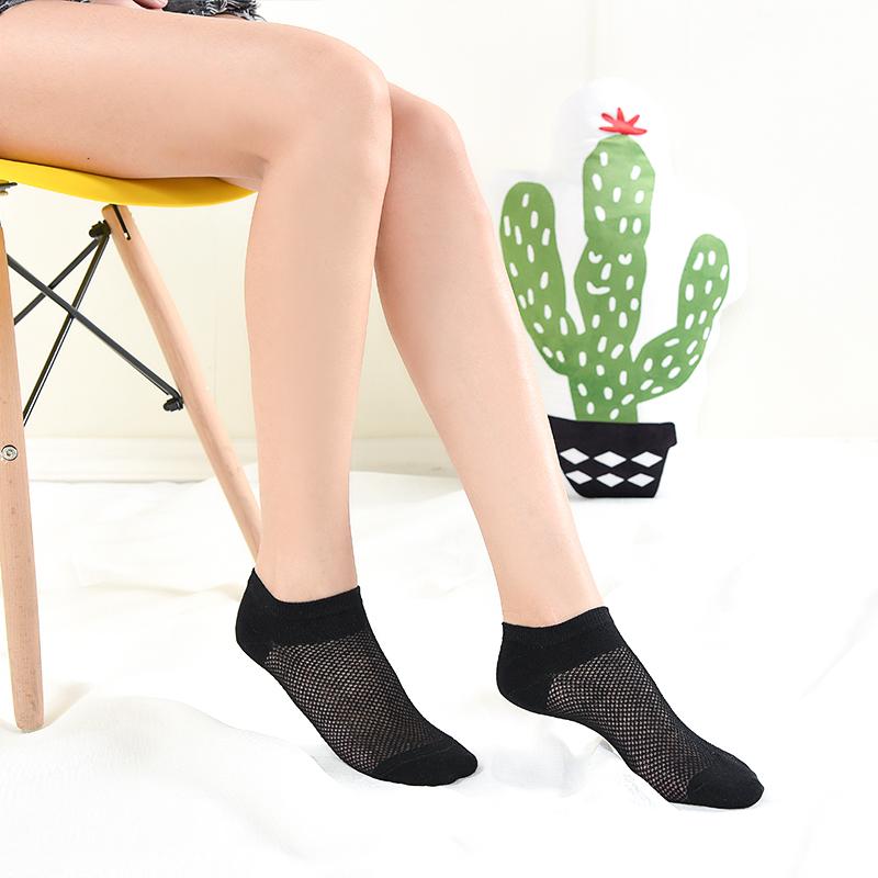 袜子女短袜浅口夏天超薄网眼低帮防臭纯棉冰丝夏季薄款透气船袜男