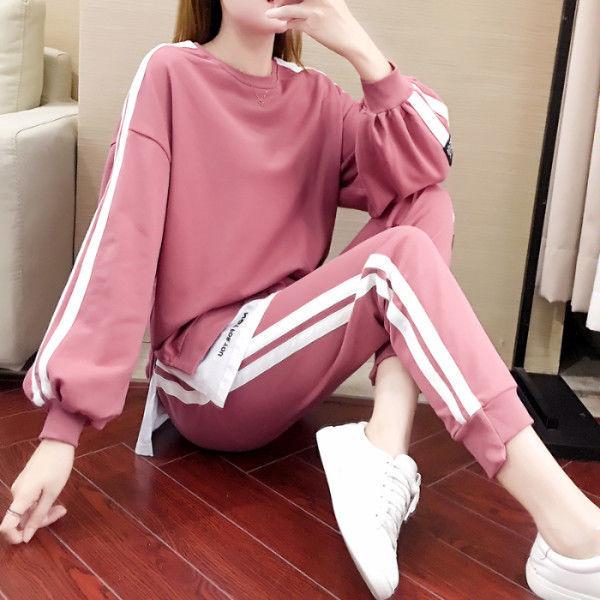 时尚百搭韩版显瘦卫衣网红两件
