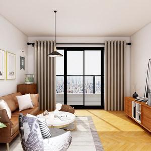 """摩力克""""幻""""简约现代全遮光布遮阳窗帘客厅卧室窗户成品定制"""