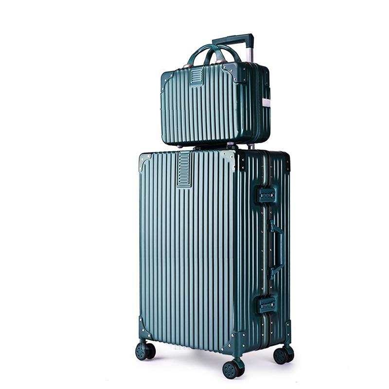 网红万向轮旅行箱大容量拉杆箱男密码箱皮箱女箱子 ins 子母行李箱