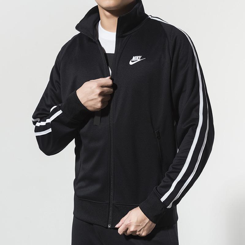 Nike/耐克男装外套 秋季新款正品上衣运动休闲夹克宽松立领防风衣