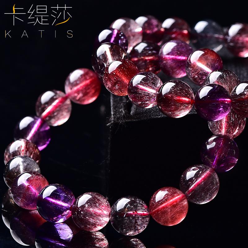 时尚水晶老坑料草莓晶单圈手链男女饰品 饰品 卡缇莎