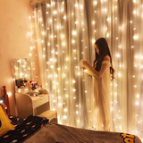 LED lights remote waterfall curtain starry light background light string icicle lights red network anchor decorative wedding