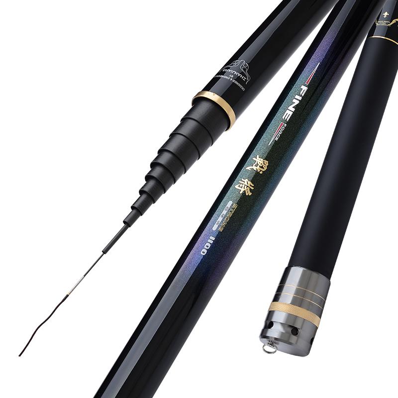 米钓鱼竿手竿炮杆 13 12 10 8 战将日本进口碳素超轻超硬长杆打窝竿