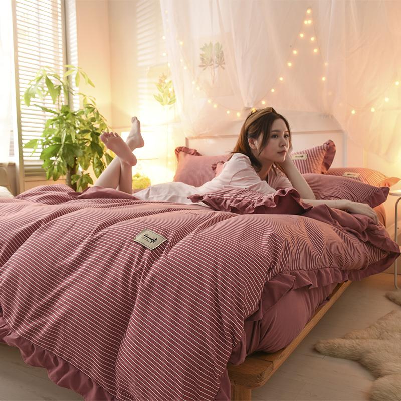 米 2.2 2.0 1.8 1.5 1.2 厂家直销冲销量公主风天竺棉针织棉四件套