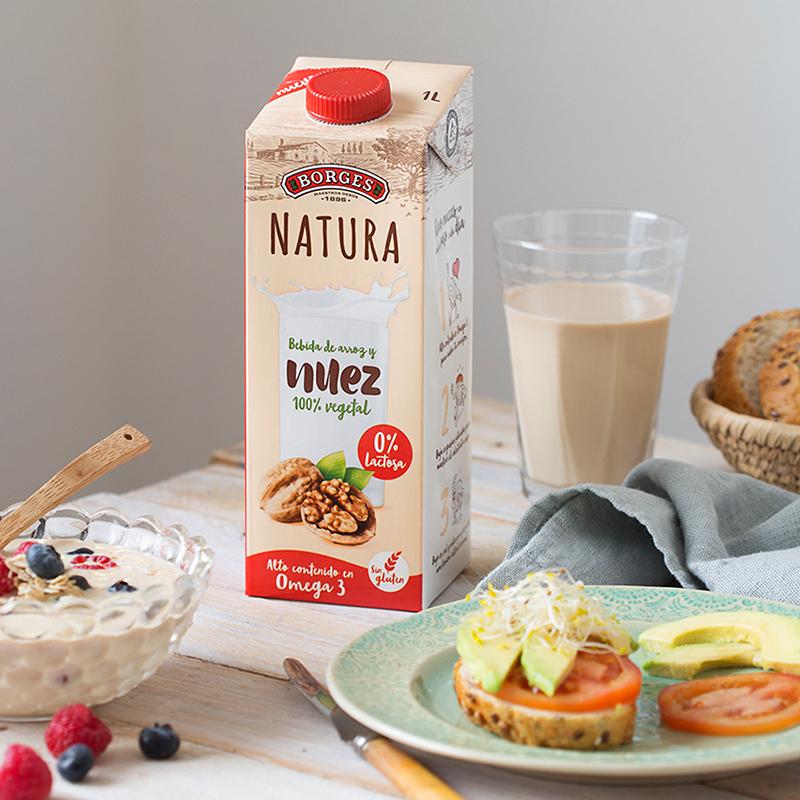 【预售中】Borges伯爵西班牙进口大米核桃汁1L植物蛋白奶饮料