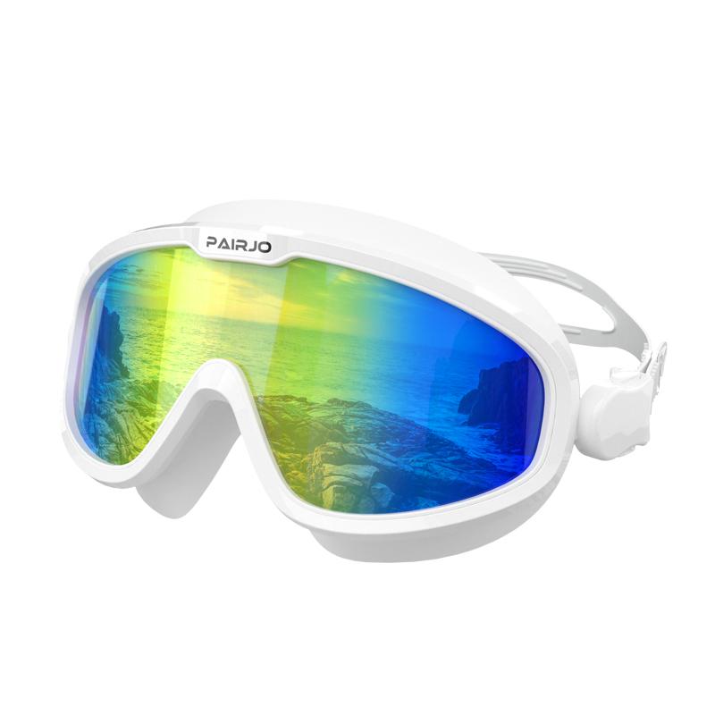 派觉泳镜女大框高清防水防雾近视电镀透明潜水游泳眼镜男成人装备