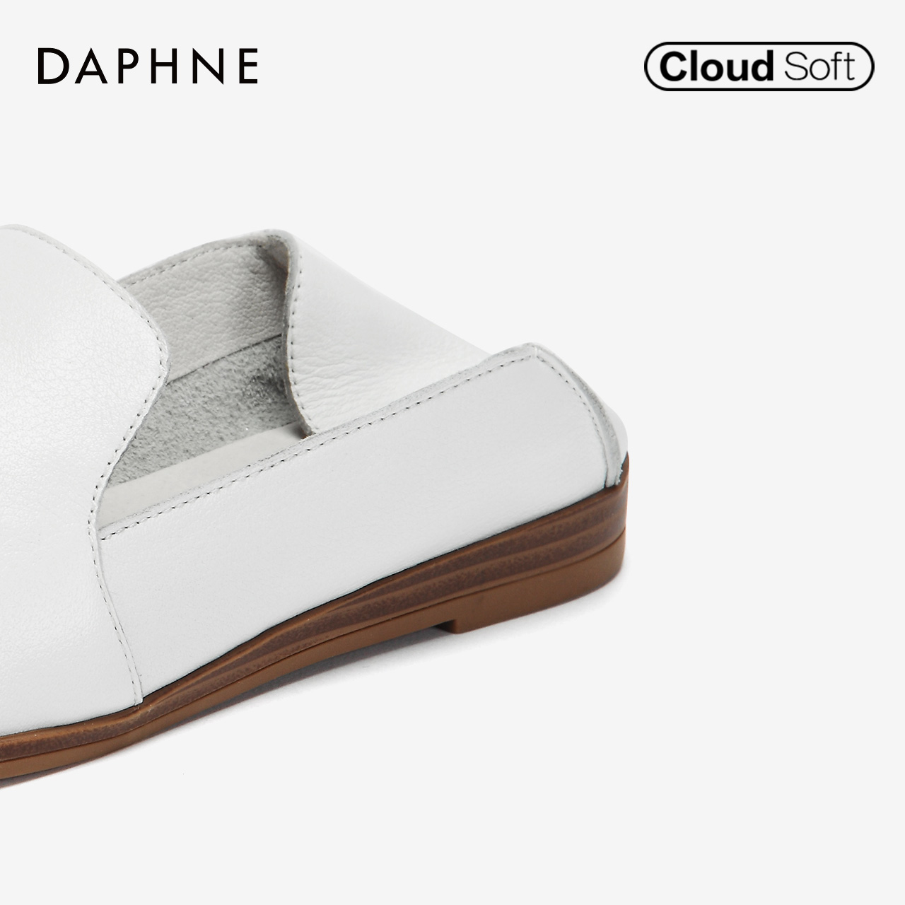 秋季新款纯色牛皮乐福鞋时尚两穿低跟单鞋女 2018 达芙妮 Daphne