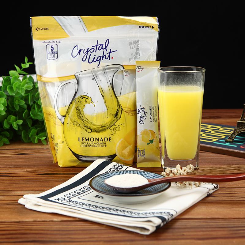 美国进口Crystal Light柠檬粉果汁粉无糖速溶浓缩固体饮料冲饮粉