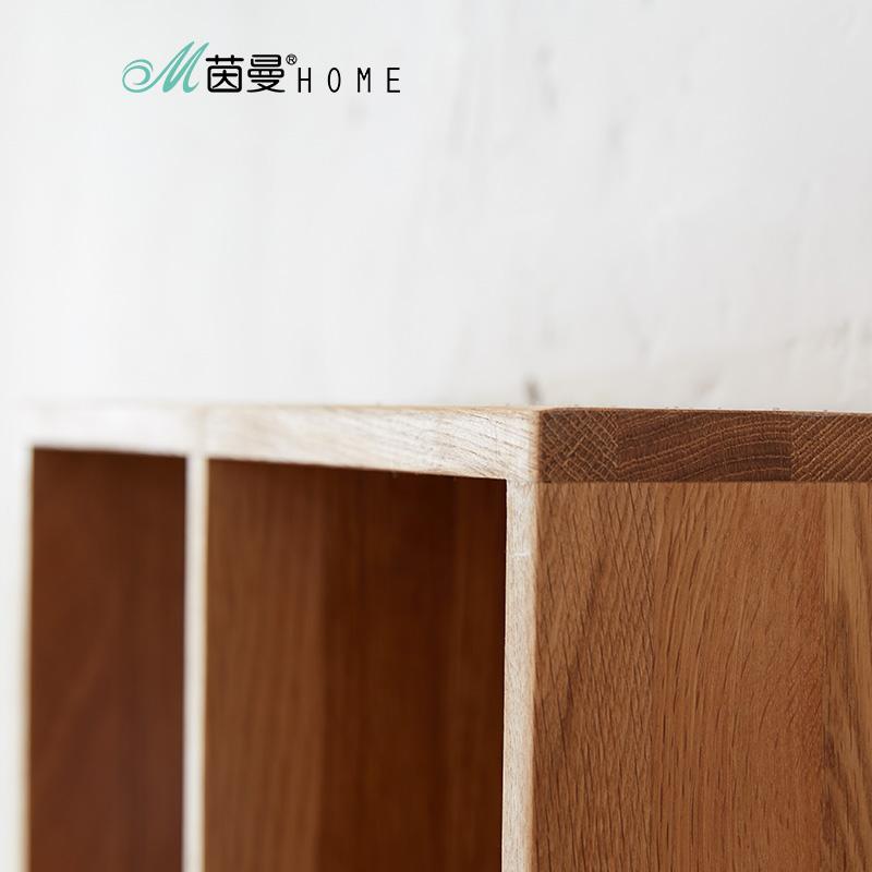 茵曼home 欧式简约实木橡木环保家具/墙上4格CD置物架收纳架