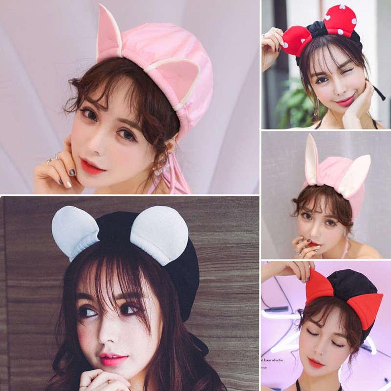 特价萌妹韩国时尚可爱女士长头发卡通成人学生游泳日系不勒头泳帽