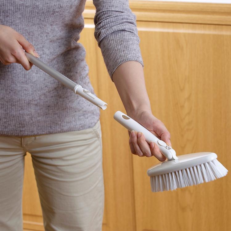 日本山崎satto 瓷砖清洁刷 卫浴墙壁擦 除尘去污刷头地板清洁刷