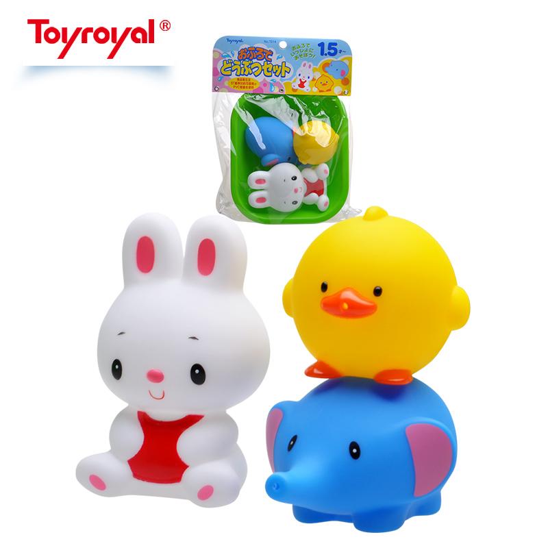 日本皇室小黄鸭子浮戏水上软胶婴幼儿童宝宝洗澡喷水玩具套装女孩
