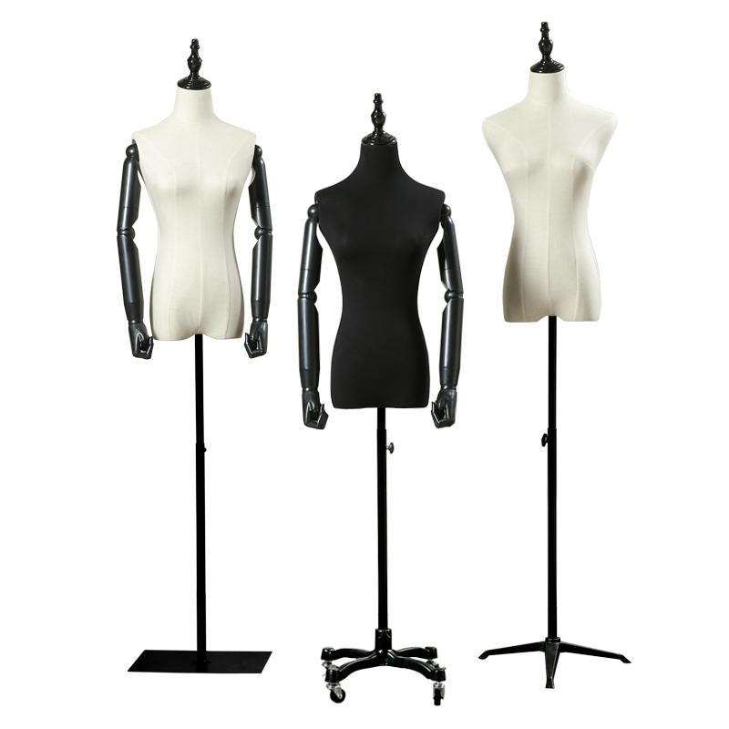 高档模特架子女服装店展示模特道具女半身橱窗模婚纱拍照假人体
