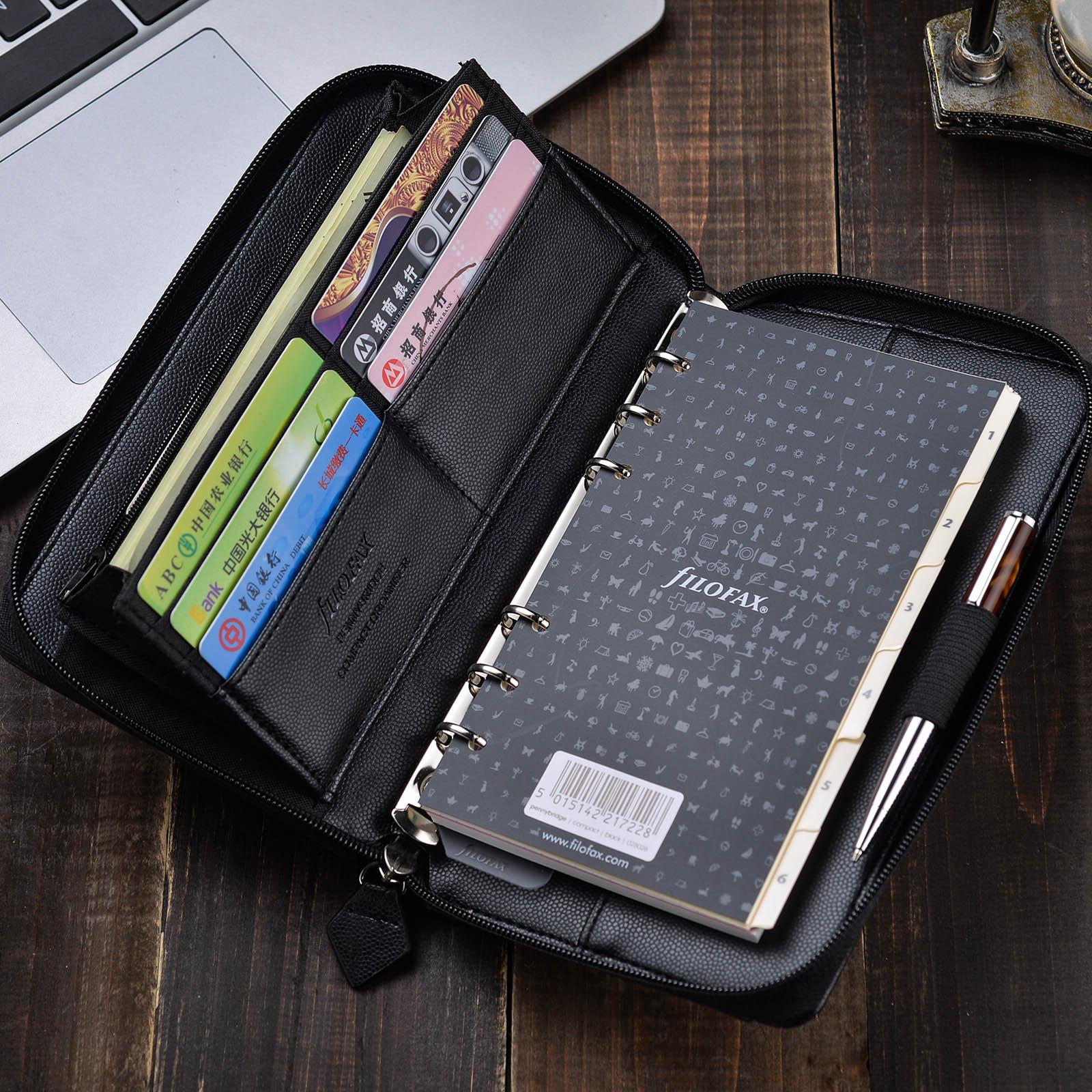 英国进口filofax compact Zip A6 拉链包 活页本笔记本记事本手包