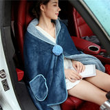 Solid thick velvet law Levin cashmere shawl blanket warm blanket office nap blankets blankets cars Leggings