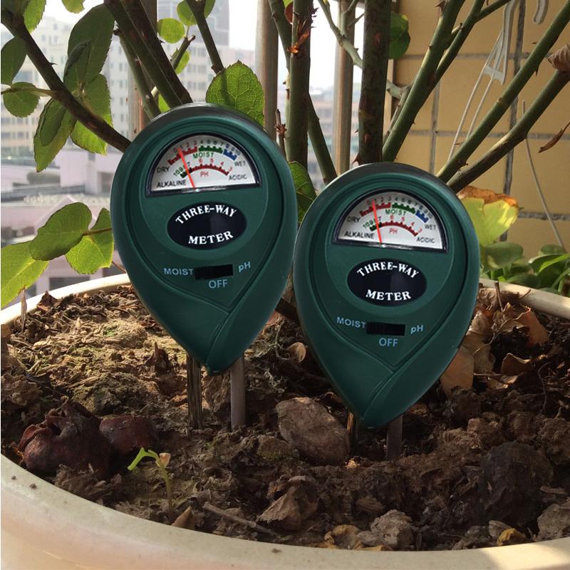 雨花泽3合1园艺花盆检测仪土壤湿度计测量酸碱度ph值光照度测试笔