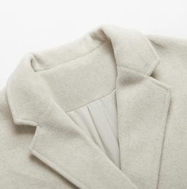 毛呢大衣外套女中长款秋冬季2019流行气质韩版加厚黑色小个子呢子