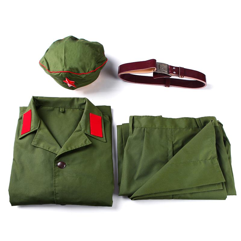 65式干部服老式65式军装男女涤卡的确良士兵套装老兵聚会老式军服