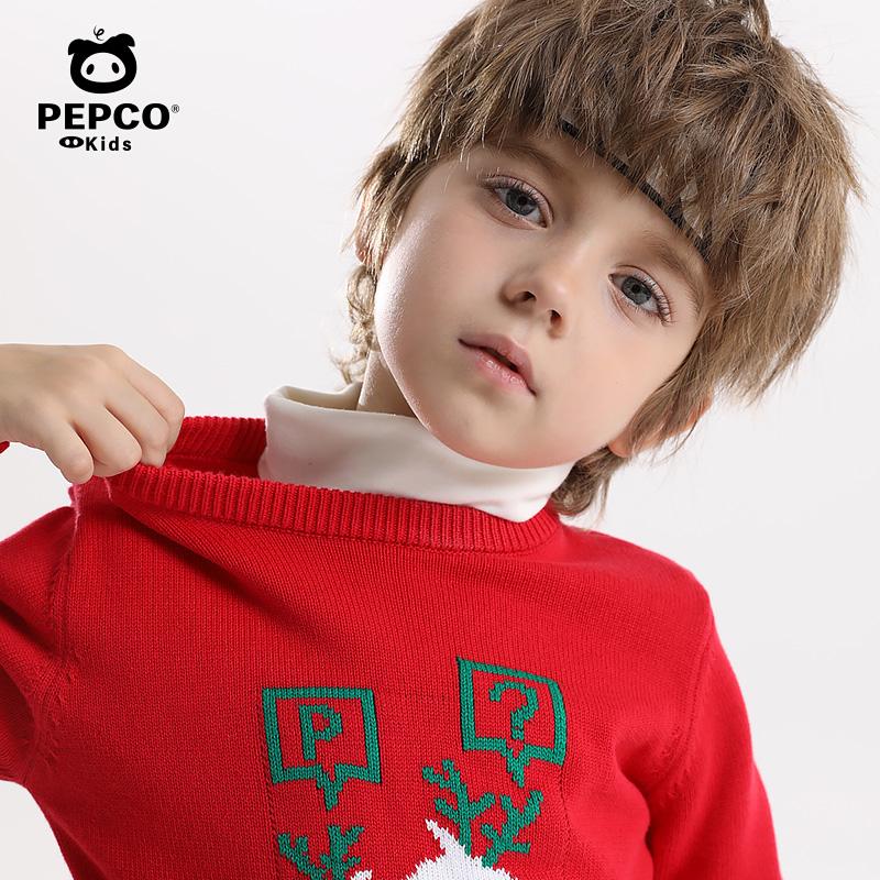 小猪班纳童装男童毛线衫女童毛衣秋冬新款儿童针织衫中大童打底衫