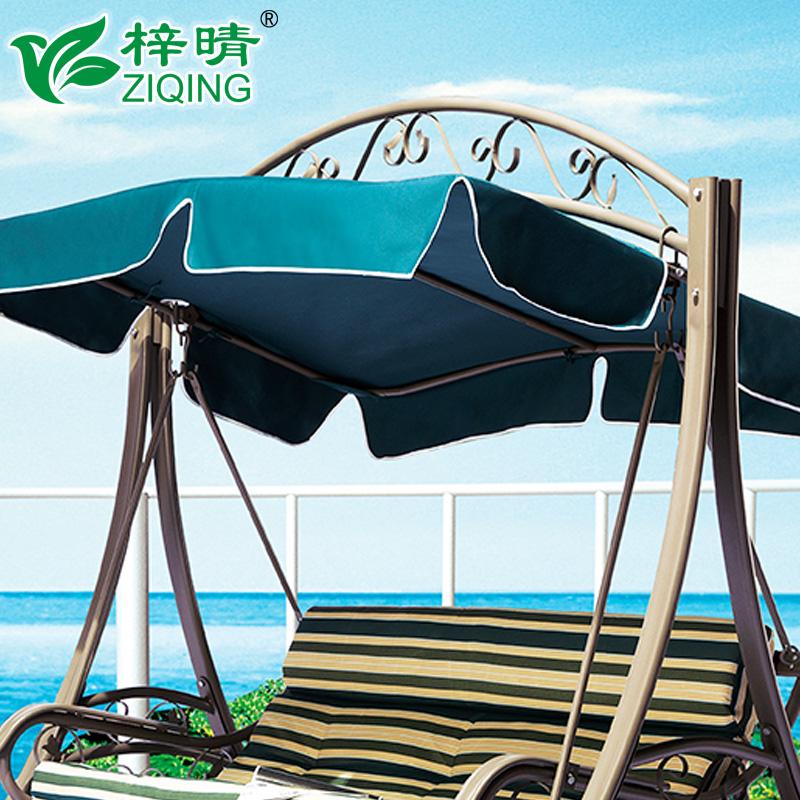 户外秋千吊椅欧式花园庭院家用阳台动力摇椅室外休闲铁艺吊蓝椅