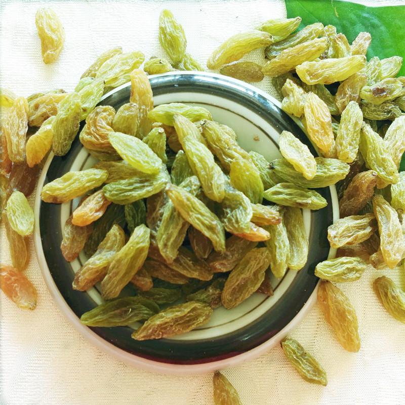 葡萄干新疆 特级超大免洗吐鲁番绿香妃葡萄干500g青提子干果零食