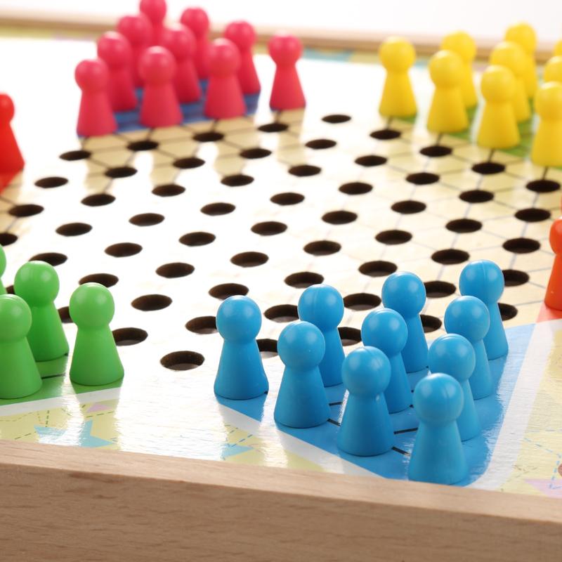 飞行棋游戏棋亲子多功能桌面象棋五子棋跳跳棋儿童棋类益智玩具