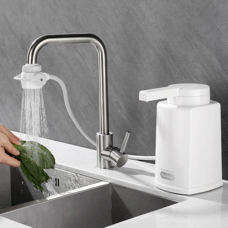 日本三菱可菱水净水机厨房台上式滤水器过滤器家用直饮净水器Q303