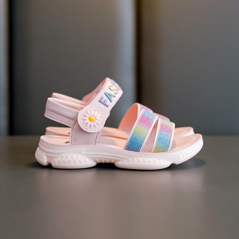 女童凉鞋2020年夏季新款中大童时尚童鞋女孩软底小学生儿童公主鞋