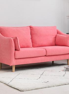 沙发小户型布艺可拆洗北欧新品卧室出租房简约两人双人三人网红款