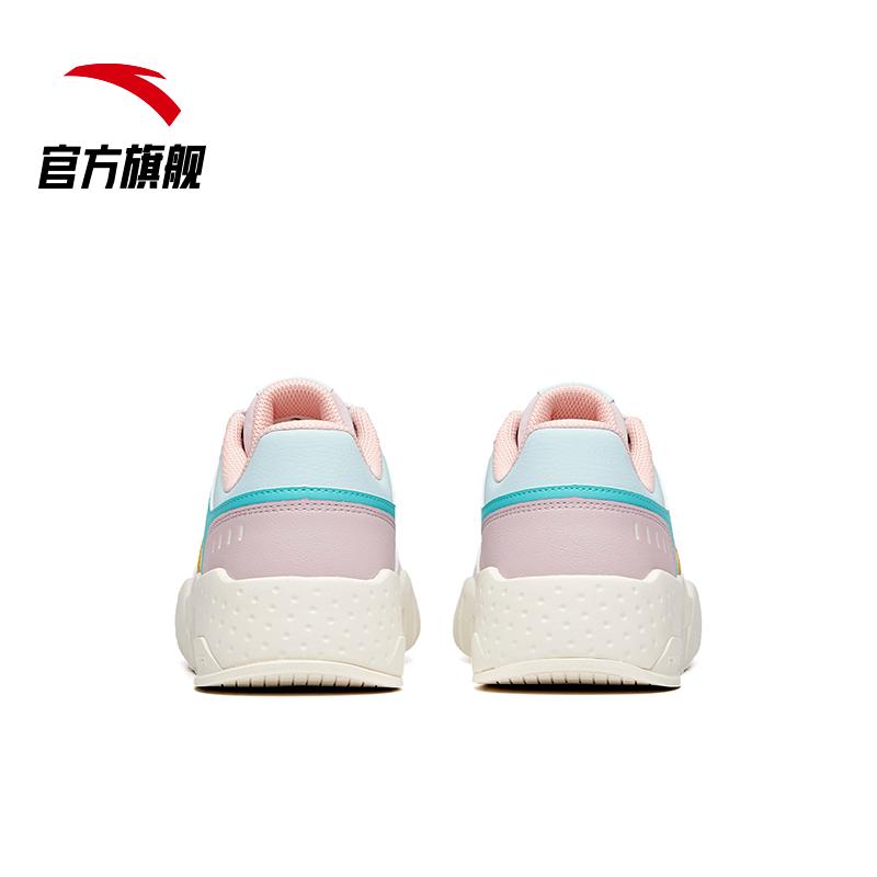 安踏板鞋女鞋2021新款春季ins潮休闲鞋子白色运动板鞋小白鞋女